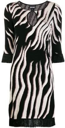 Just Cavalli tiger knit sweater dress