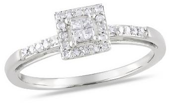 Ice.com 1/5 Carat Diamond 14K White Gold Engagement Ring