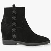 Ash Goldie Concealed Wedge Heeled Ankle Boots, Black