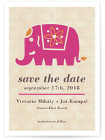 Minted Indian Elephant Save the Date Postcards