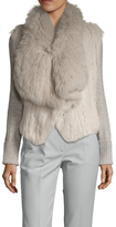 Tasha Tarno Ribbed Fox and Rabbit Coat
