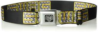 "Buckle Down Buckle-Down Unisex-Adult's Seatbelt Belt Swag Quote XL Black/Bling 1.5"" Wide-32-52 Inches"