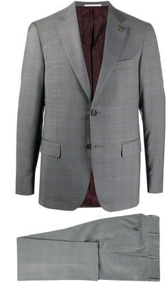 Pal Zileri Tartan Print Single-Breasted Suit