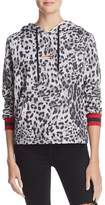 Honey Punch Distressed Leopard Print Hoodie