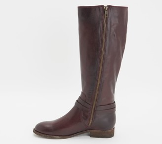 Frye Leather _Belted Medium Calf Tall Boots - Melissa