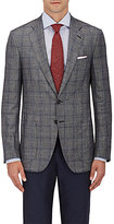 Isaia Men's Plaid Wool-Blend Sportcoat-GREY