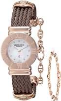 Charriol Women's 028RP543326 St Tropez Analog Display Swiss Quartz Brown Watch