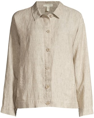 Eileen Fisher Classic Button-Up Linen Jacket