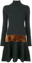 D-Exterior D.Exterior - metallic detail ribbed dress - women - Polyamide/Viscose/Mohair/Wool - XS