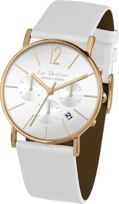 Jacques Lemans Unisex Watch La Passion Analogue Quartz Leather