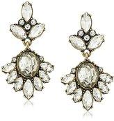 David Aubrey Jamie Crystal Post Drop Earrings