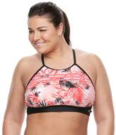 adidas Plus Size Ocean Elements Swim Crop Top