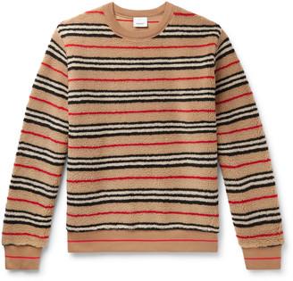 Burberry Striped Fleece Sweatshirt
