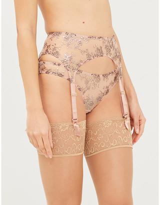Myla Provence Street embroidered mesh suspender