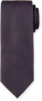 Brioni Woven Mini-Houndstooth Silk Tie