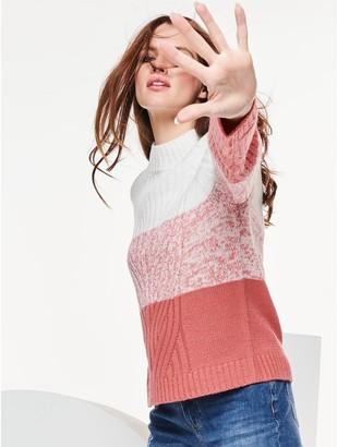 M&Co Petite cable knit ombre jumper