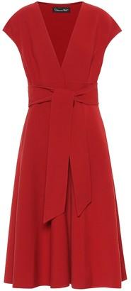 Oscar de la Renta Wool-blend midi dress