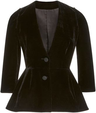 Brock Collection Velvet Peplum Jacket