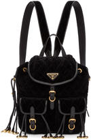 Prada Black Quilted Velvet Backpack