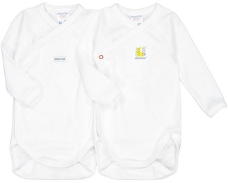 Absorba Pack of 2 Bodysuits with Long Sleeves in Organic Cotton, Birth-6 Months