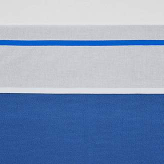 Camilla And Marc Meyco 413034 Bed Sheet with Piping Bright Blue 100% Cotton 75 x 100 cm Blue/White