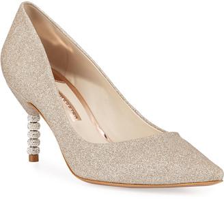 Sophia Webster Coco Glitter Crystal-Heel Pumps