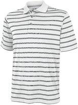 adidas Mens Textured Stripe Polo Shirt (M) (White/Black)
