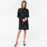 Paul Smith Women's Black 'Island' Print Silk Shirt-Dress