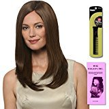 Treasure (Human Hair) by Estetica, Wig Galaxy Hair Loss Booklet & Magic Wig Styling Comb/Metal Pick Combo (Bundle - 3 Items), Color Chosen: R6