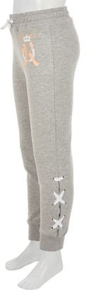 River Island Girls Grey lace-up side joggers