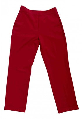 Benetton Red Polyester Trousers