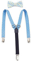 Class Club Golf Striped Bow Tie & Suspenders Set