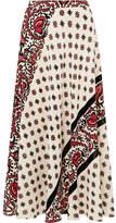 RED Valentino Printed Silk Midi Skirt - Ivory