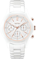 Bulova Caravelle New York by Women's Chronograph White Ceramic Bracelet Watch 36mm 45L144