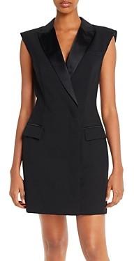 Escada Sport Dyla Satin-Trimmed Tuxedo Dress