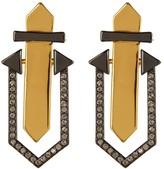 Botkier Embellished Geometric Stud Drop Earrings