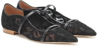 Malone Souliers Maureen lace ballet pumps