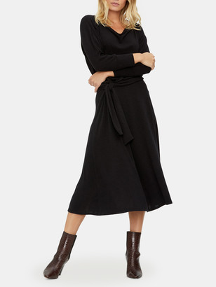 Michael Stars Blanche Boat Neck Midi Dress