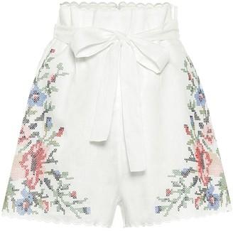 Zimmermann Juliette floral linen shorts