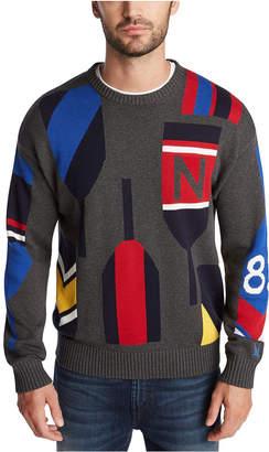 Nautica Men Blue Sail Classic-Fit Paddle Graphic Sweater