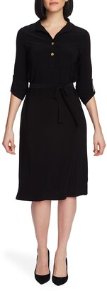 Chaus Tie Waist Shirtdress