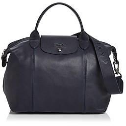 Longchamp Le Pliage Medium Leather Shoulder Bag