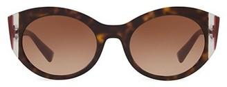Valentino VA4039 Grad Burgandy 53MM Round Sunglasses