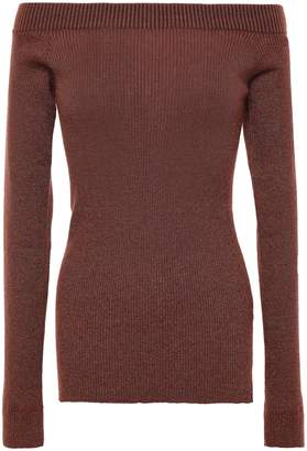 Brunello Cucinelli Off-the-shoulder Ribbed-knit Top