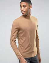 Jack and Jones Long Sleeve High Neck in Jersey