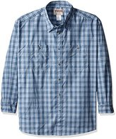 Wrangler Men's Big and Tall Wrinkle Resist Spread Collar Plaid Woven Shirt