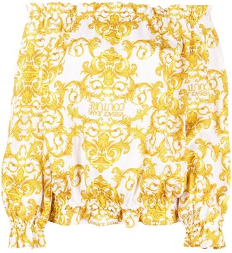 Versace Jeans Couture Barocco-print blouse