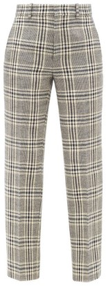 Gucci Checked Wool-blend Straight-leg Trousers - Blue White