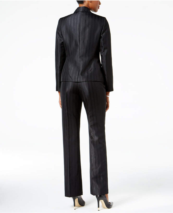 Le Suit 3-Pc. Two-Button Striped Pantsuit