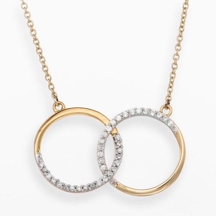 JLO by Jennifer Lopez Jlove by 10k gold 1/4-ct. t.w. diamond circle necklace